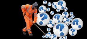 Man sweeping away addiction myths