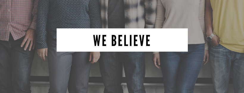 We Believe Banner for Teamwork and Corporate Culture at Bridging the Gaps